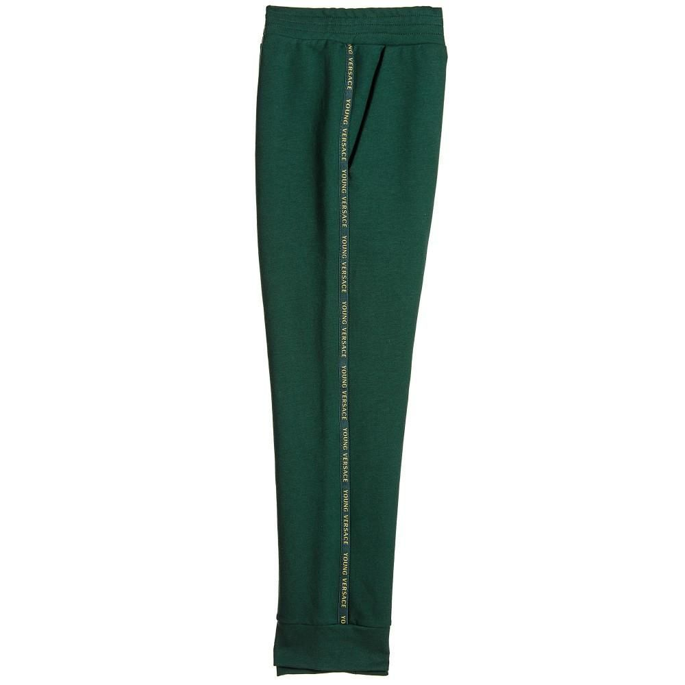 871b45c59084 Versace Boys Forest Green Tracksuit Pants
