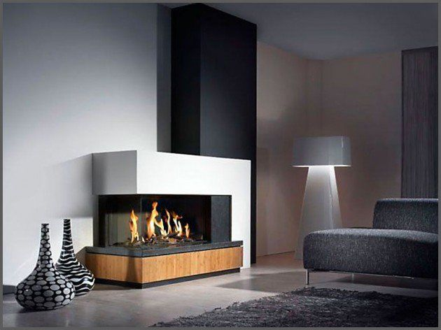 22 Ultra Modern Corner Fireplace Design Ideas | Fireplace design ...