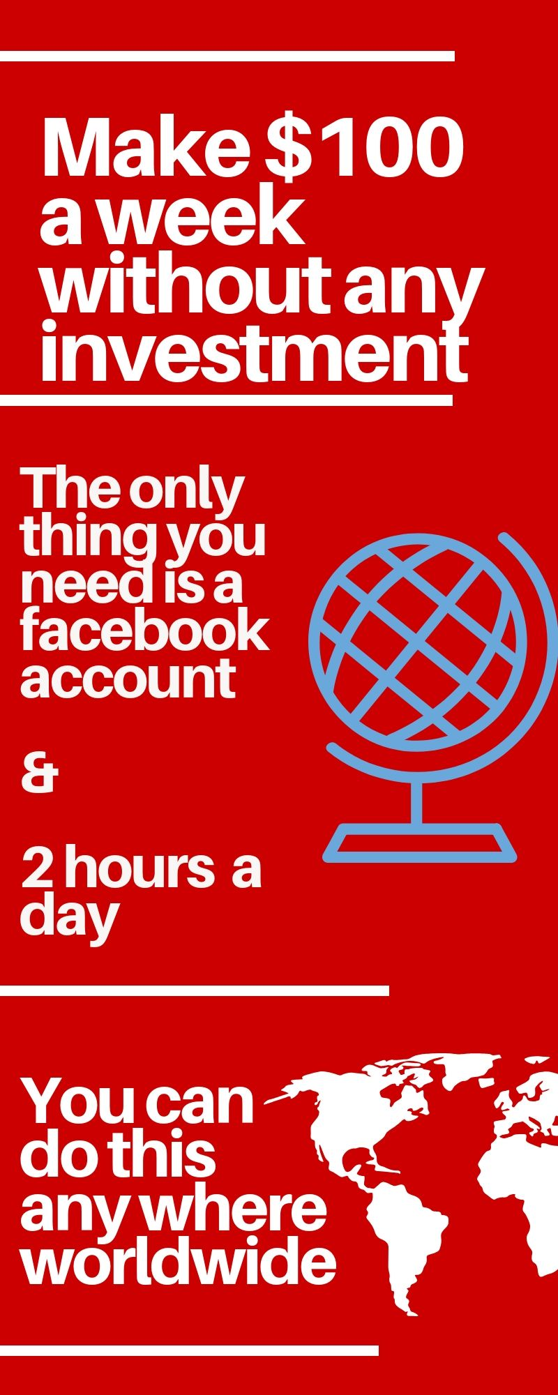 Do you have a Facebook account and 2 hours in a day to