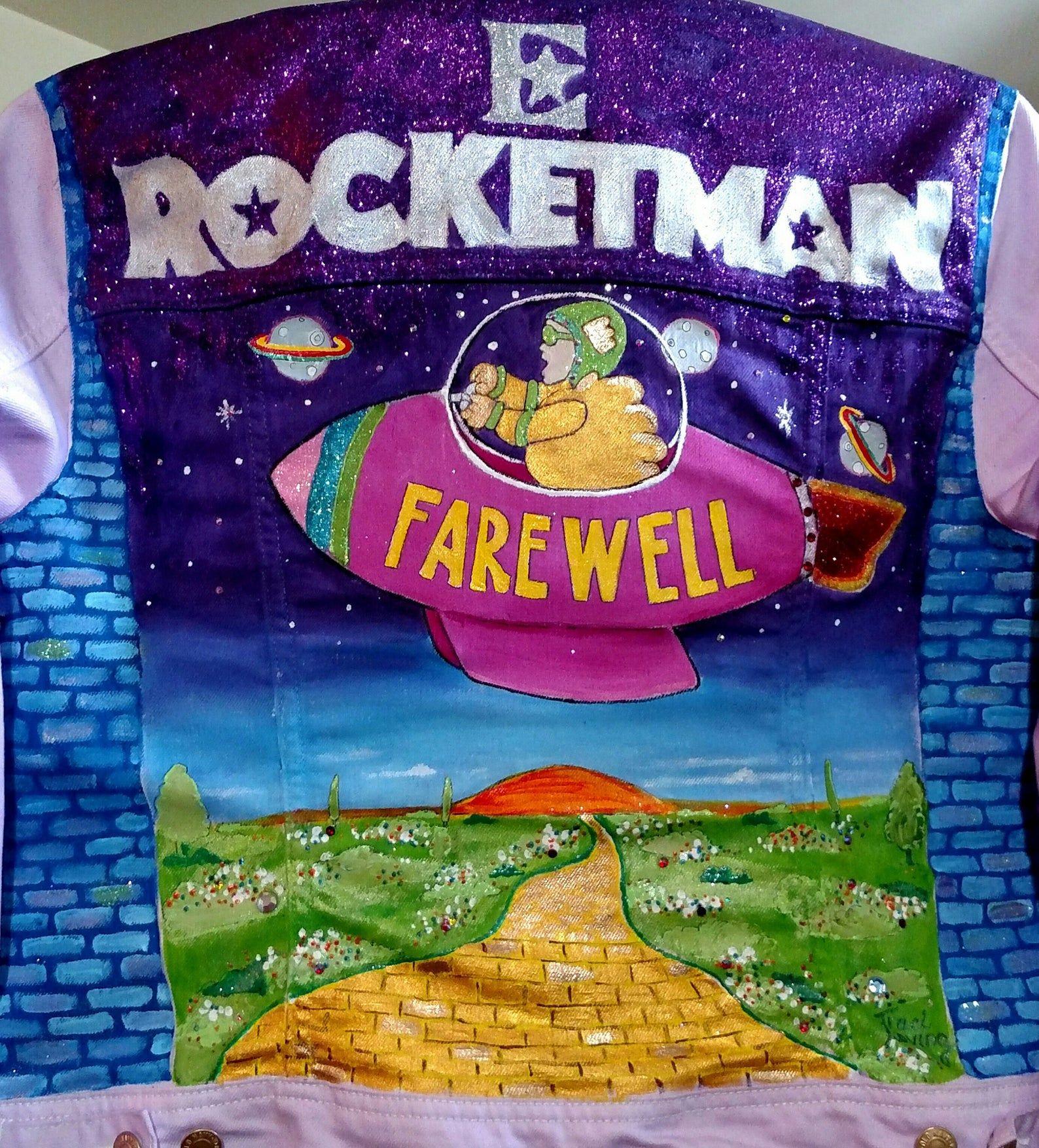 Elton John Rocketman Or Captain Fantastic Painted Jacket Etsy Captain Fantastic Elton John Box Art [ 1753 x 1588 Pixel ]