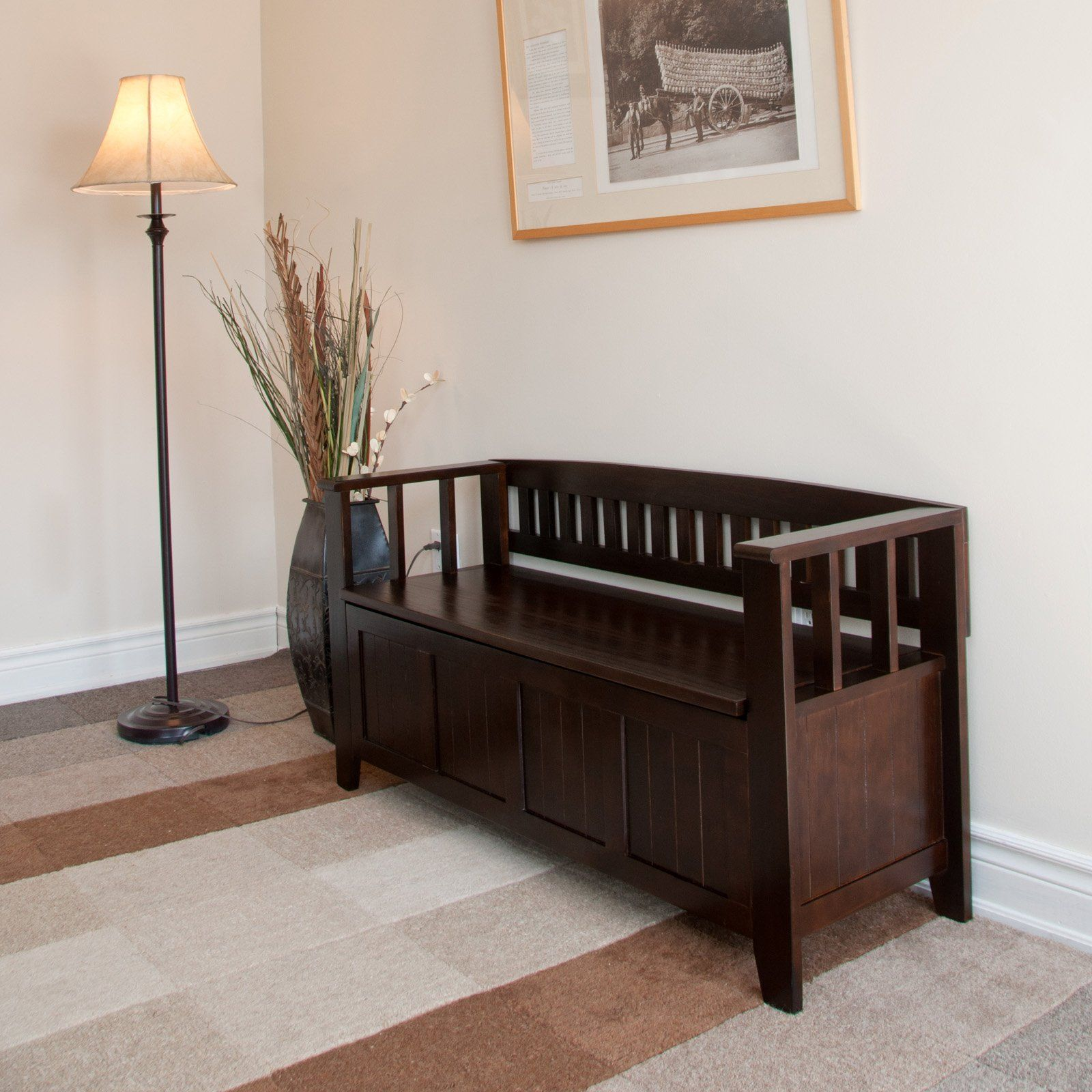 Entry Bench   From Just Storage Benches   Acadian Entryway Storage Bench