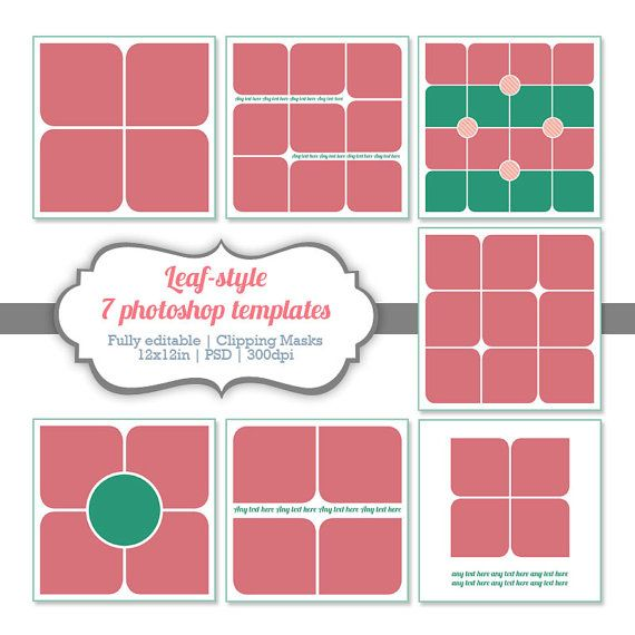 Instant Download Photoshop Templates Digital Collage - Storyboard