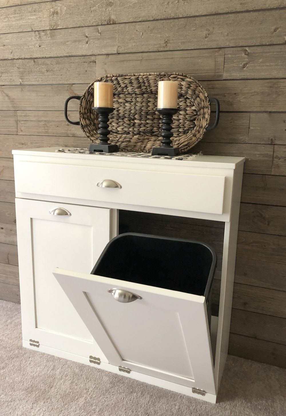 tilt out double bin with a drawer white (D-DRAW-W) in 2020 ...