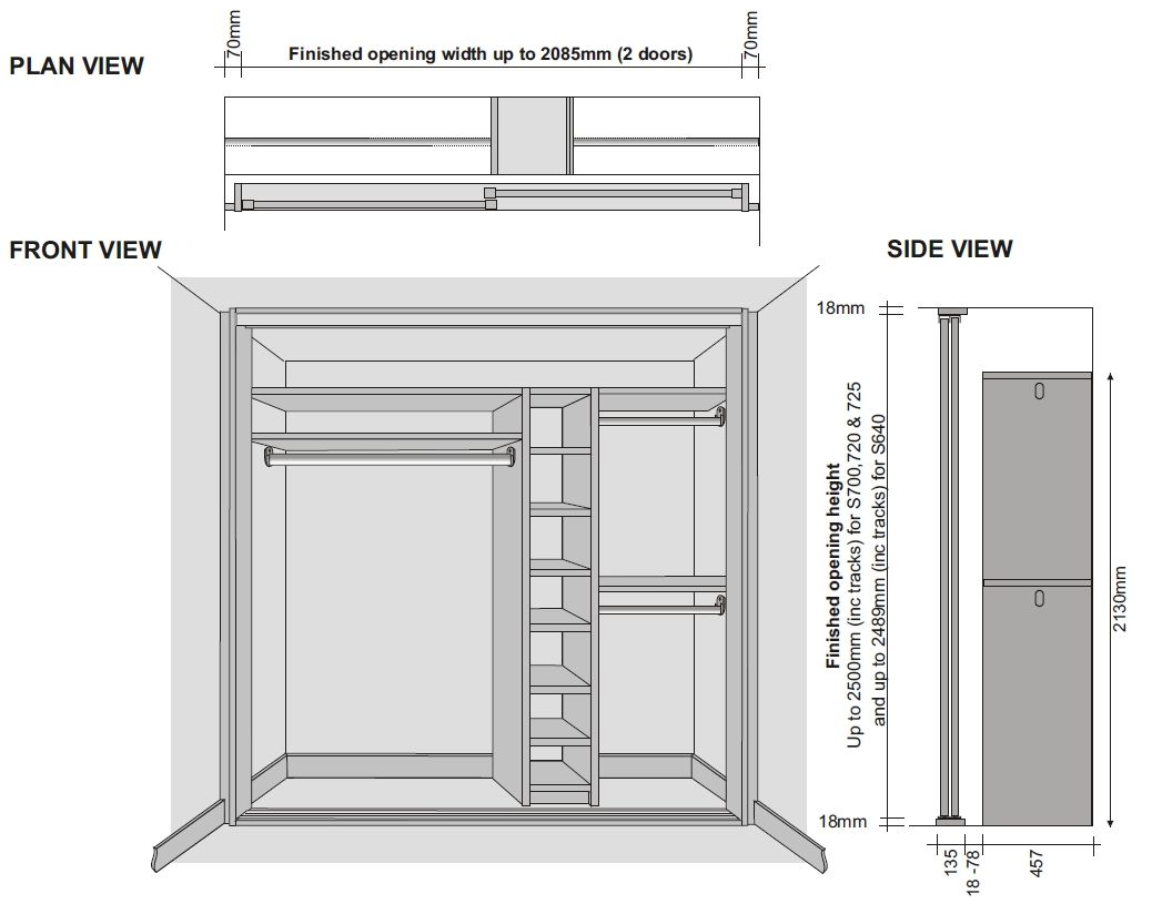 Doors Measurements Wardrobe Doors Sliding Wardrobe Sliding