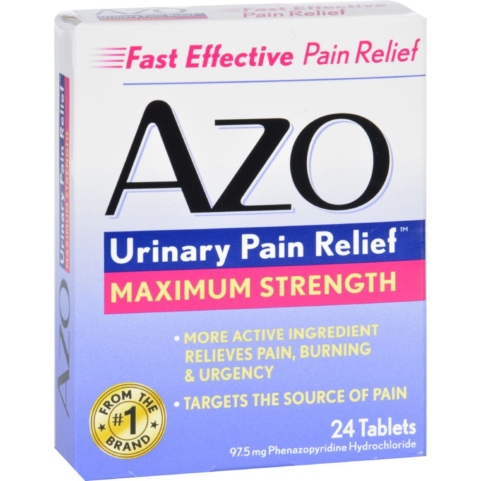 Azo Urinary Pain Relief 24 Tablets Products Uti