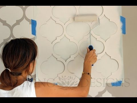 Descubre paso a paso como para pintar paredes con - Plantillas para pintar ...