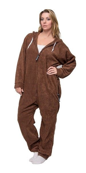 Lay Down Brown Onesie Detachable Feet Onesies Pajamas