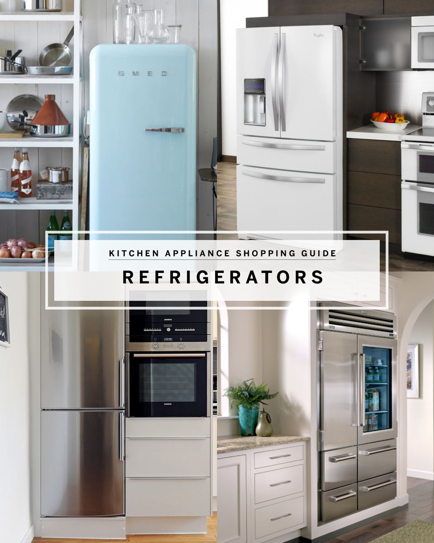 Best refrigerators by style modern vintage u industrial kitchens