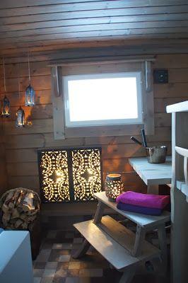 Valkoinen Puutalokoti: Lovely finnish sauna
