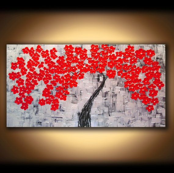 LARGE CANVAS ART Painting Wall Art Abstract Oil Landscape ...