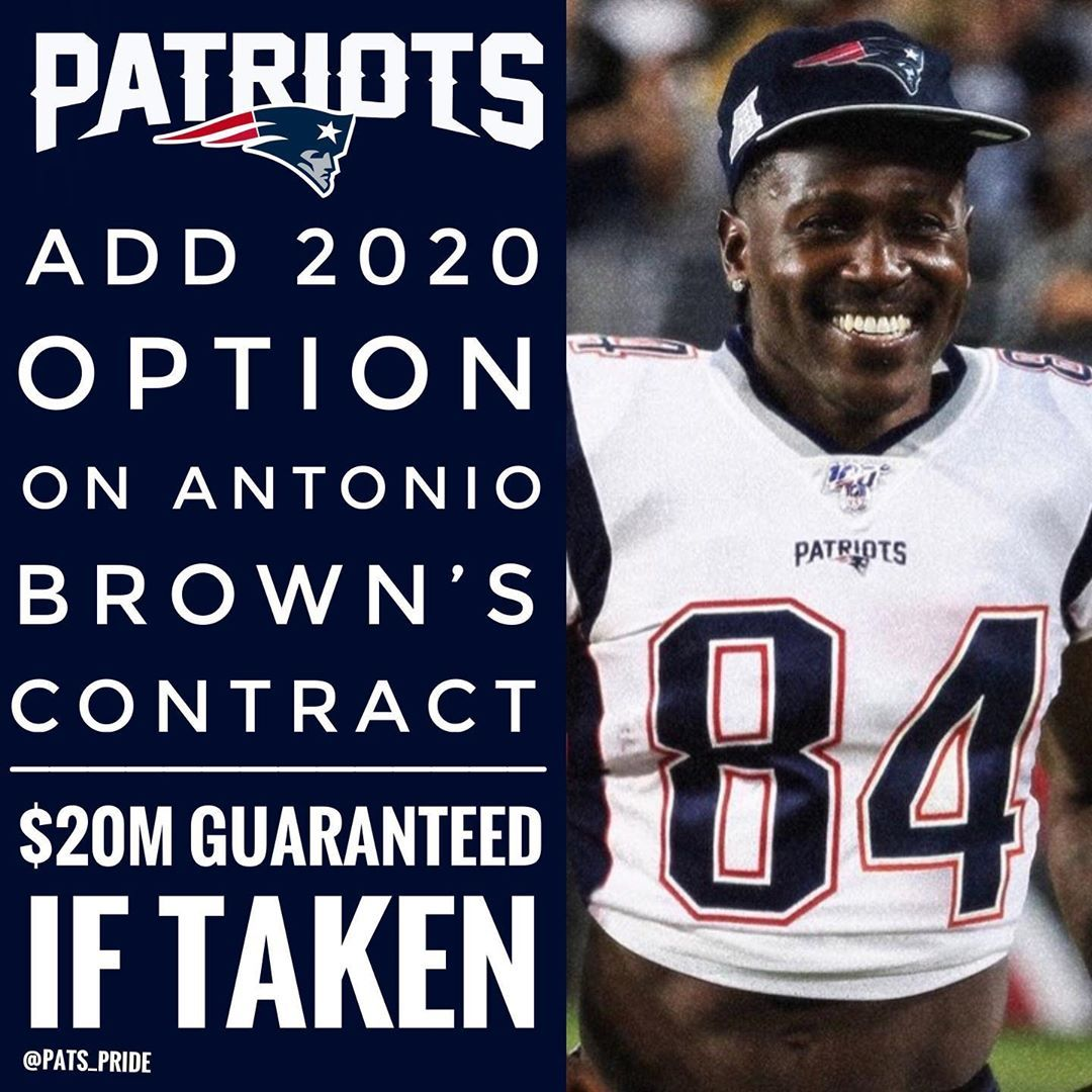 The Patriots Have Given Ab A 20m Option In 2020 Patriots New England Patriots England Patriots