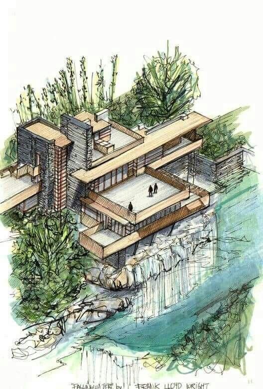 Falling water #architektonischepräsentation