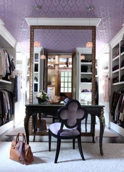 glam walk-in closet