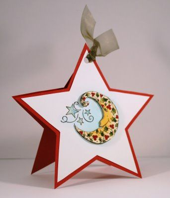 Updates From Parisestates Star Shaped Card Cards Handmade Star Cards Christmas Card Template