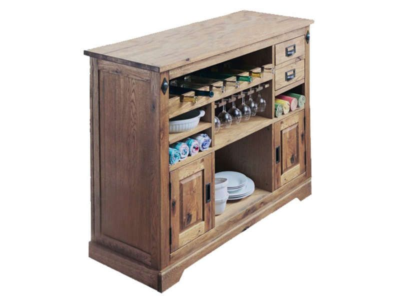 Bar 2 portes 2 tiroirs louis vente de buffet bahut for Vaisselier cuisine conforama