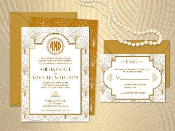 Charleston Sc Wedding Invitations: The Charleston 1920s Jazz Art Deco Wedding By Merrymint On