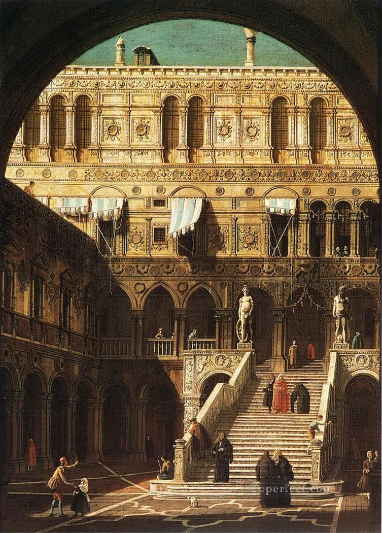 scala dei giganti 1765 Canaletto Venice Landscape Painting