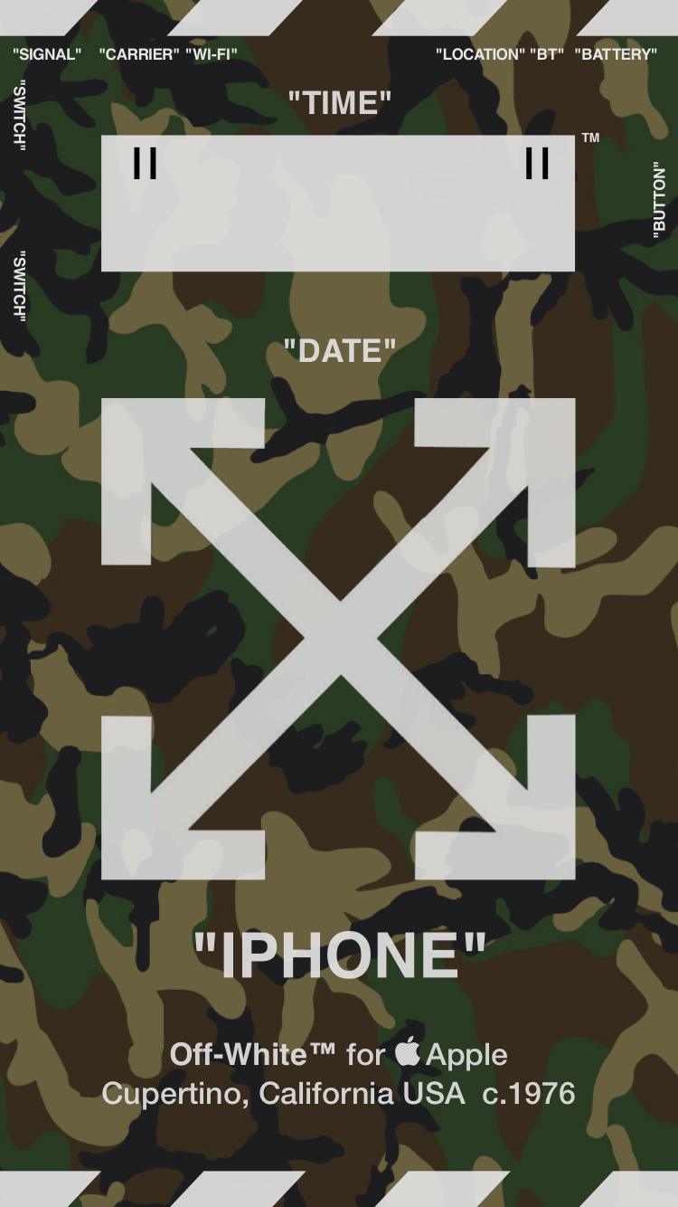 """Off-White™WALLPAPER IPHONE 壁紙 18/4/30 """"CAMOUFLAGE"""