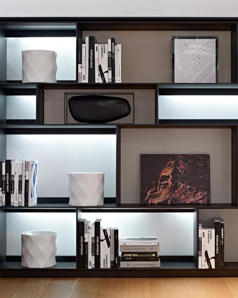 System-Bookcase: FLAT.C - Collection: B&B Italia - Design: Antonio ...