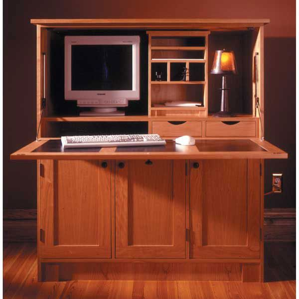 home office hideaway puter desk woodworking plan