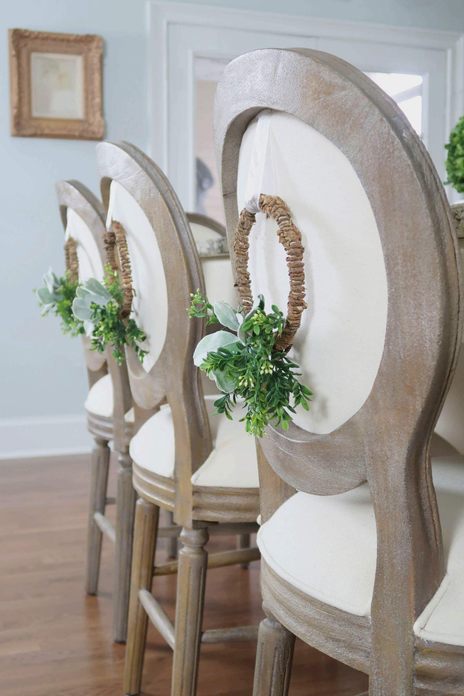 How To Make A Wreath For The Back Of A Chair Easy Christmas Wreaths Affordable Christmas Decorations Large Christmas Ornaments