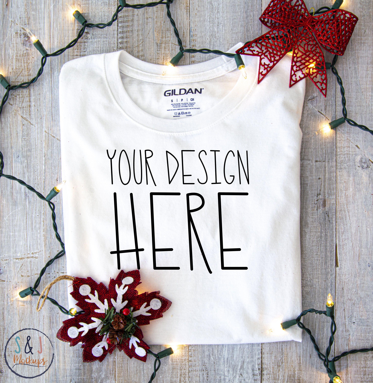 Download Christmas Mockup Blank T Shirt Mockup Photo Mockup For Svg Etsy In 2020 Shirt Mockup Svg Clothing Mockup