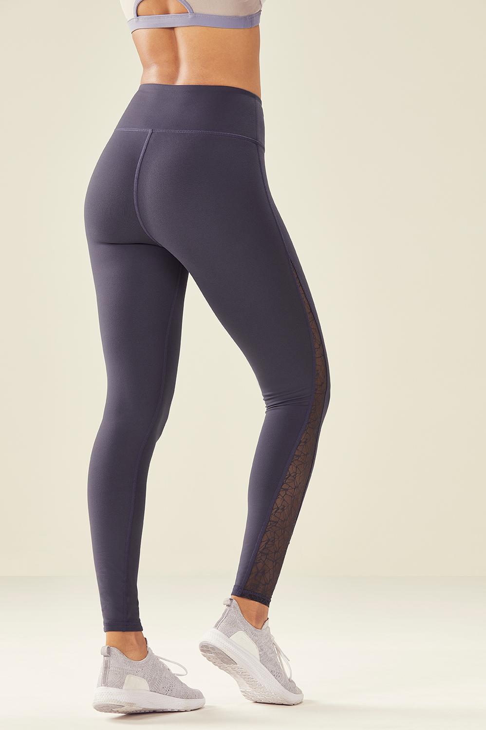 c422992933 Fabletics Tight High-Waisted Mesh Powerhold Legging Womens Gray Size XXS