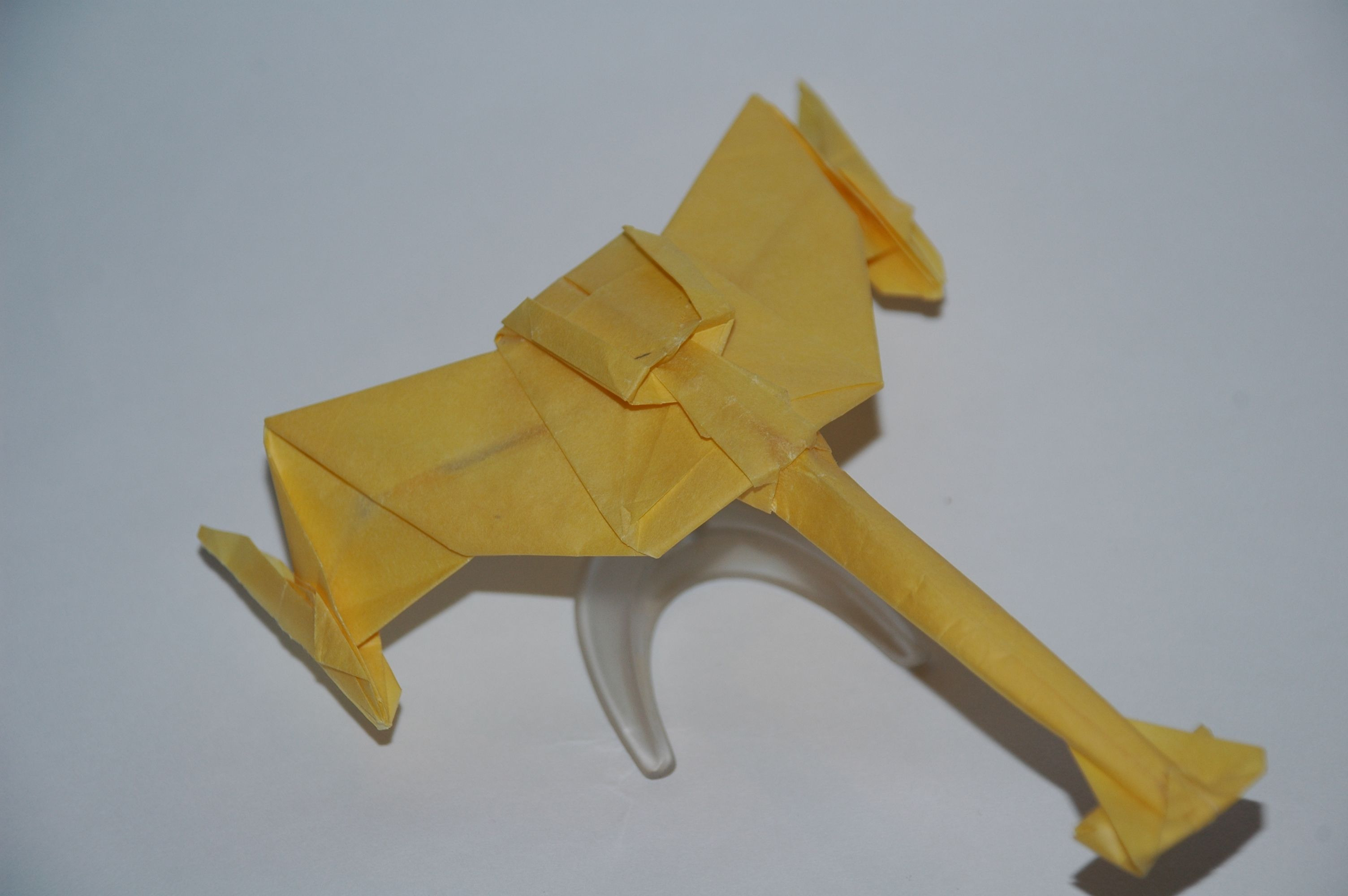 An Origami Klingon D7 I Folded In 2010 Star Trek Pinterest How To Fold Naboo Starfighter And Other Starships From