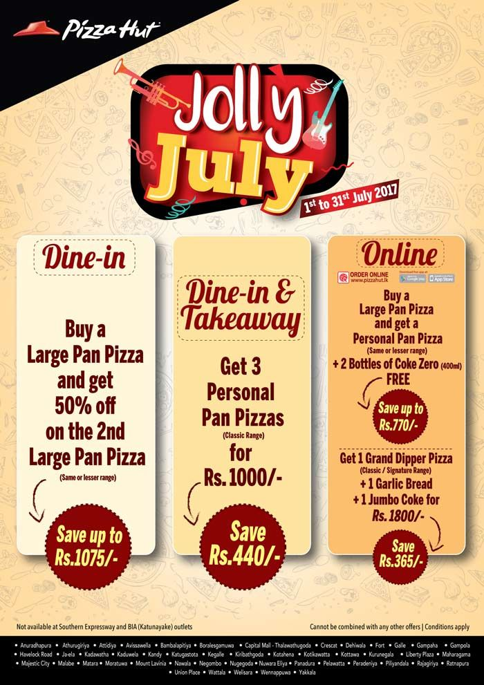 Jolly July At Pizza Hut Pizza Takeaway Pops Cereal Box Pan Pizza