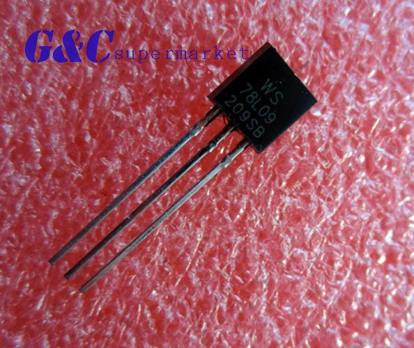 100PCS WS78L09 78L09 TO92 WS TO92 100mA 9V Voltage Regulator High quality