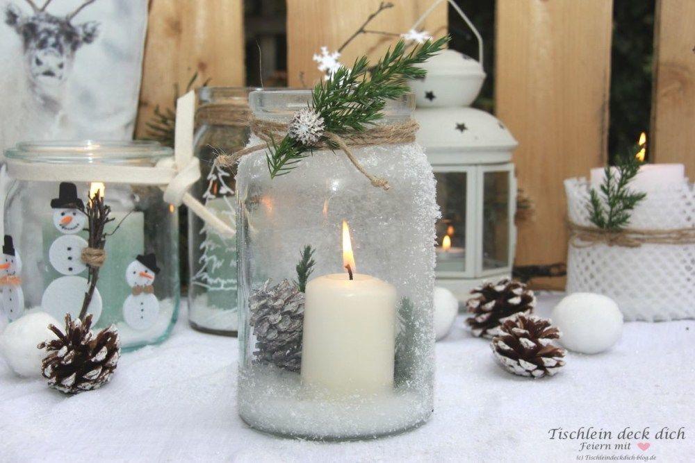 Kreativ Freitag No. 3 - Gläser winterlich dekorieren - Tischlein deck dich