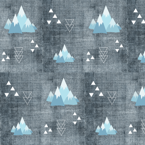 Peaked fabric by buckwoodsdesignco on Spoonflower - custom fabric