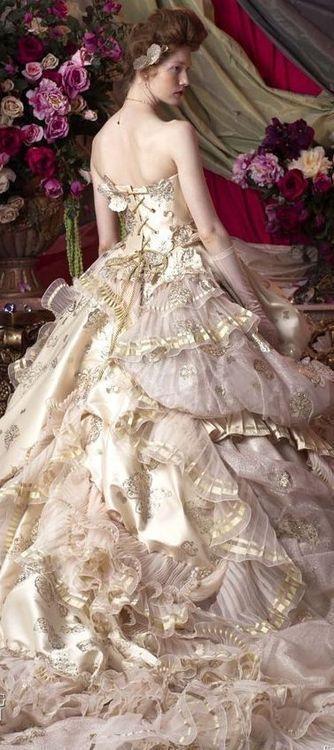Stella de Libero jaglady gold and blush victorian steampunk wedding ...