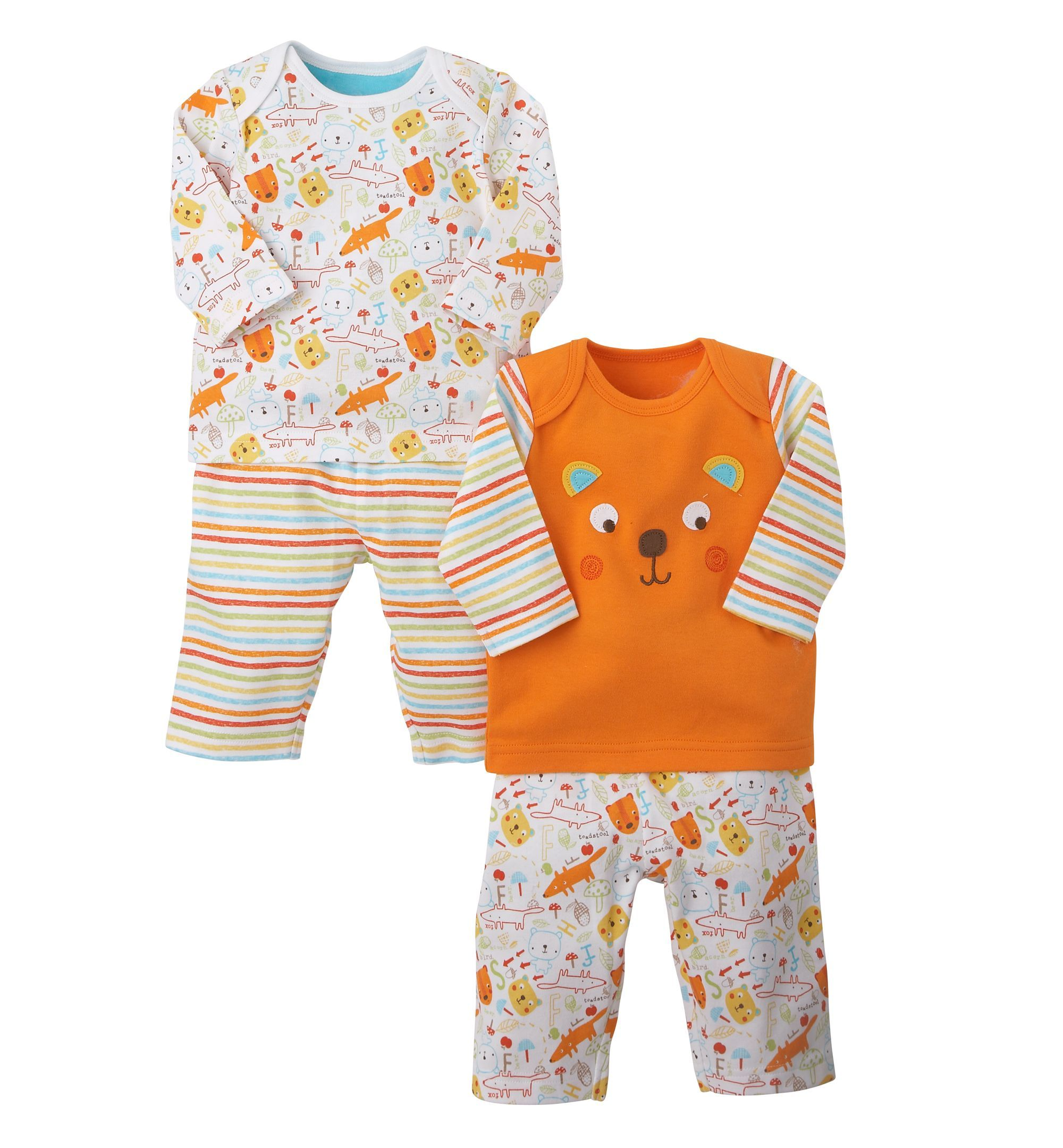 20e68cb1b95f3 Mothercare Woodland Critters Pyjamas- 2 Pack