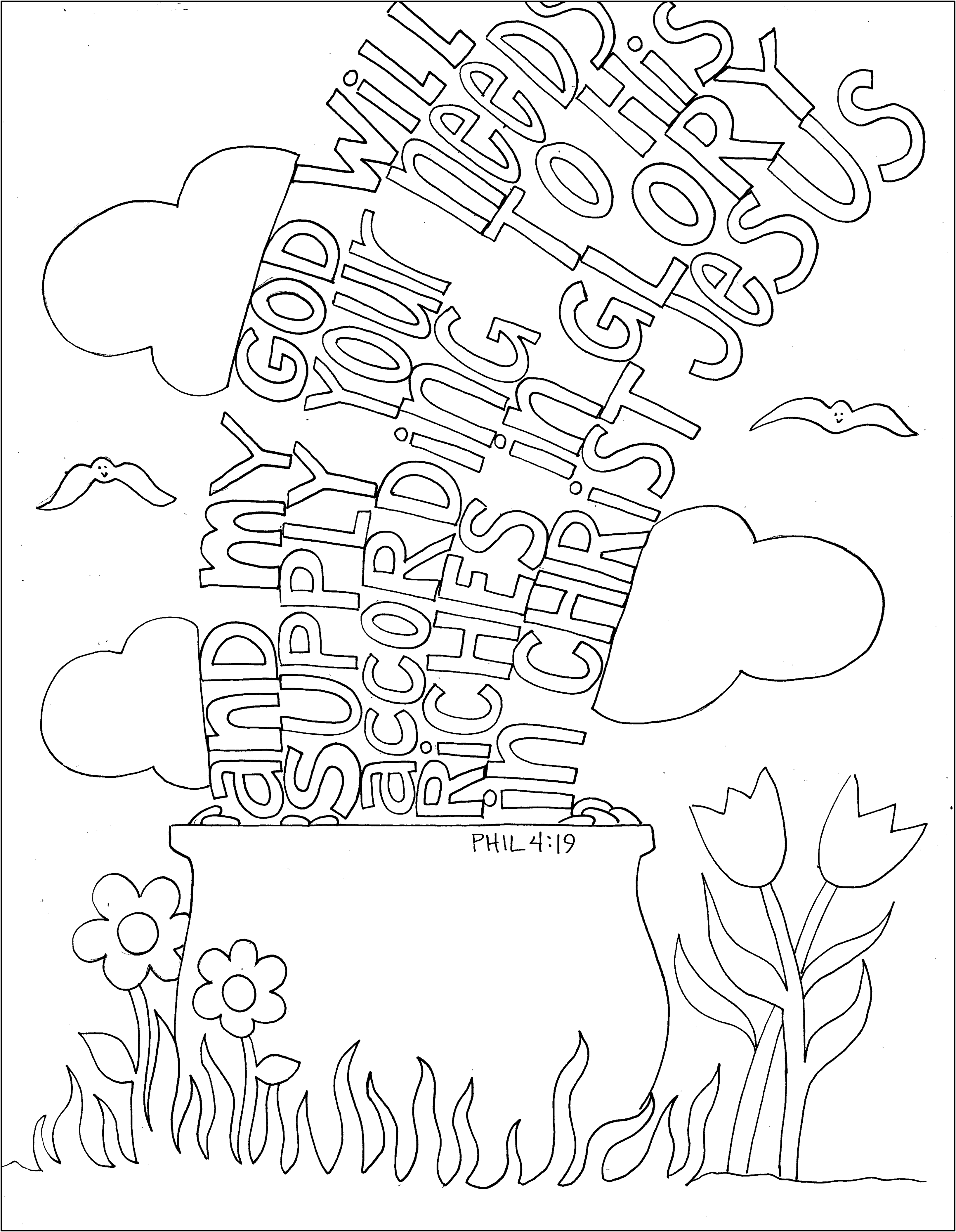 Phil 4 19 Coloring Page