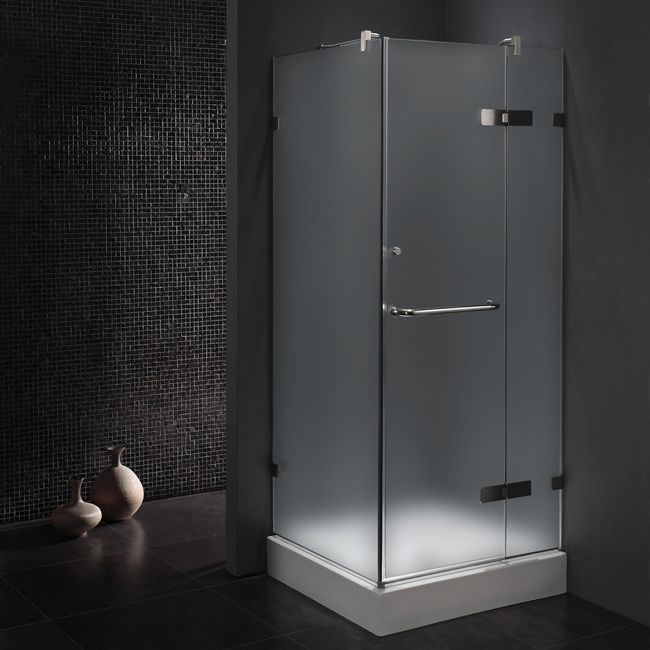 Vigo frameless 36x36 square shower enclosure interior spaces vigo frameless square shower enclosure tempered glass with polished edgesreversible left or right sided installation side clear seals keep the door planetlyrics Gallery