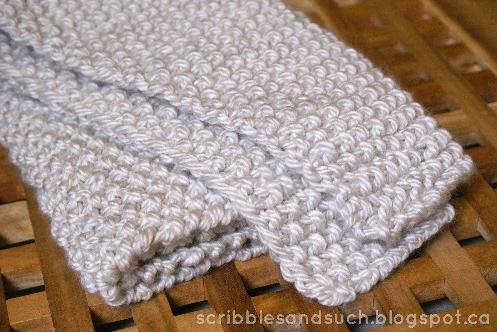 Chunky Knitted Baby Blanket - free pattern || scribblesandsuch ...