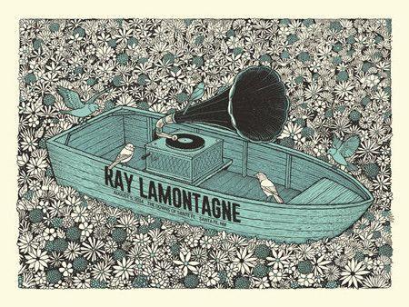 Ray Lamontagne - Flower Boat Gig Poster