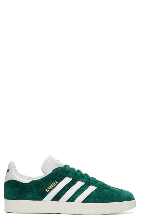 new concept 88276 d9817 adidas Originals Green Suede Gazelle OG Sneakers