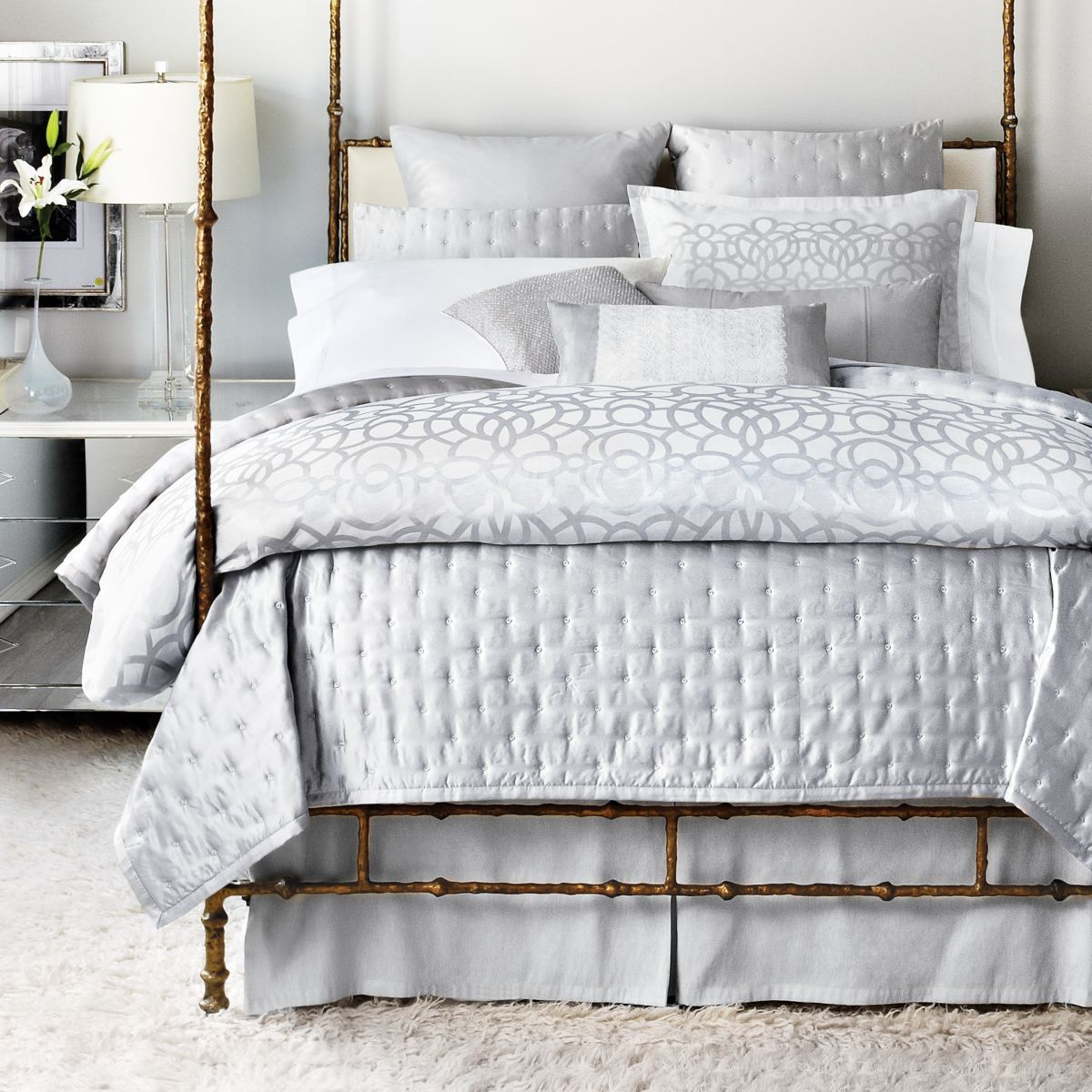 Best Image Detail For Hudson Park Luxe Modern Lace Bedding 400 x 300
