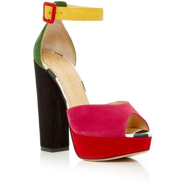 Charlotte Olympia Pink Colorblock Elastic Sneakers ke9sKl