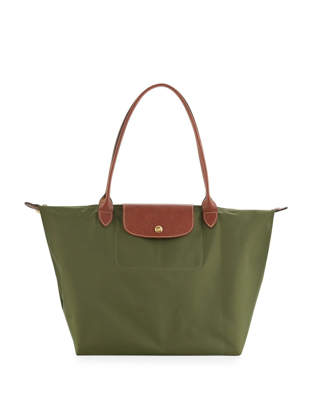 aeb10be73f Le Pliage Large Shoulder Tote Bag, Khaki Birthday List, Longchamp, Dream  Closets,