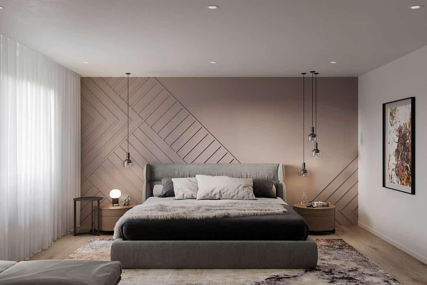 Bedroom Design 2021 Above Bed Hanging Pendants Interior Design Bedroom Bedroom Interior Bedroom Pop Design