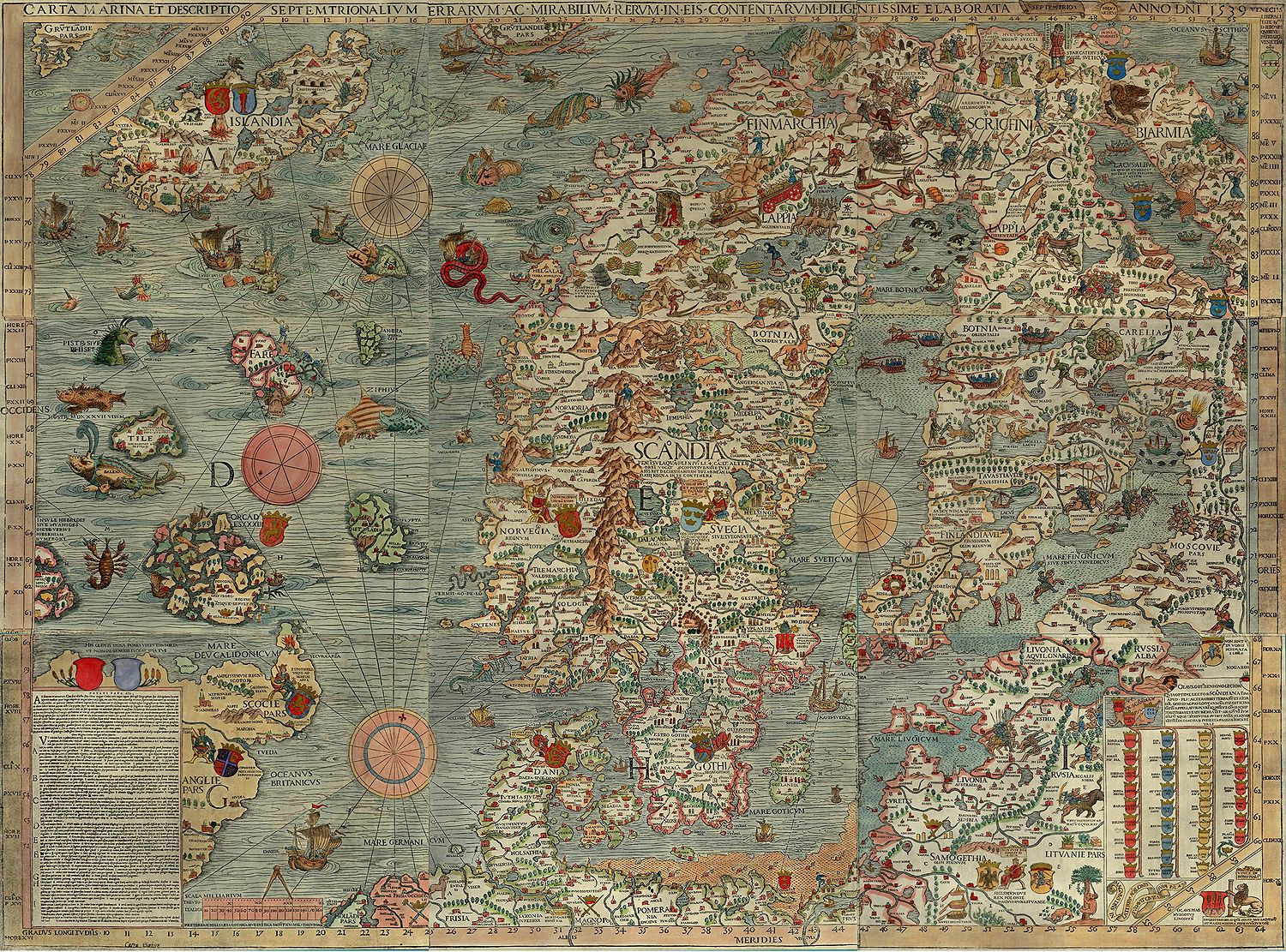 Old sea map with monsters sea monsters map illustrations and old map sea monsters inspiration for our nautical themed main bathroom i think i gumiabroncs Choice Image