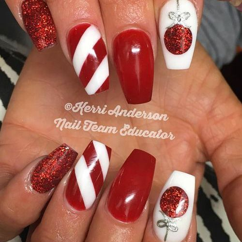 Best Acrylic Christmas Nails - 71 Acrylic Christmas Nail ...
