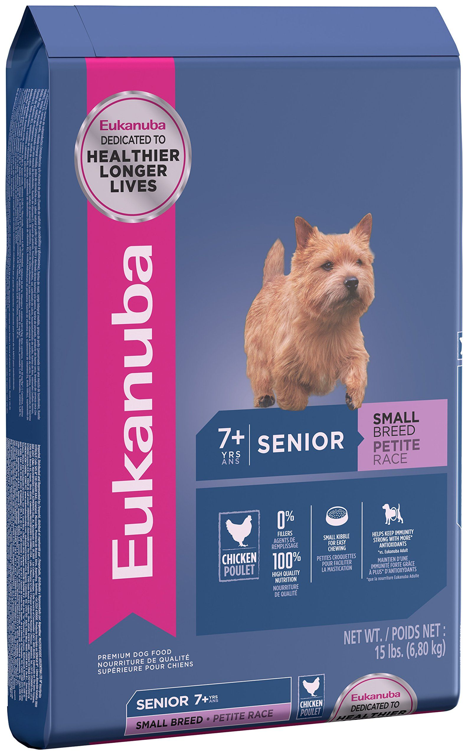 Eukanuba senior small breed dog food 15 pounds for more