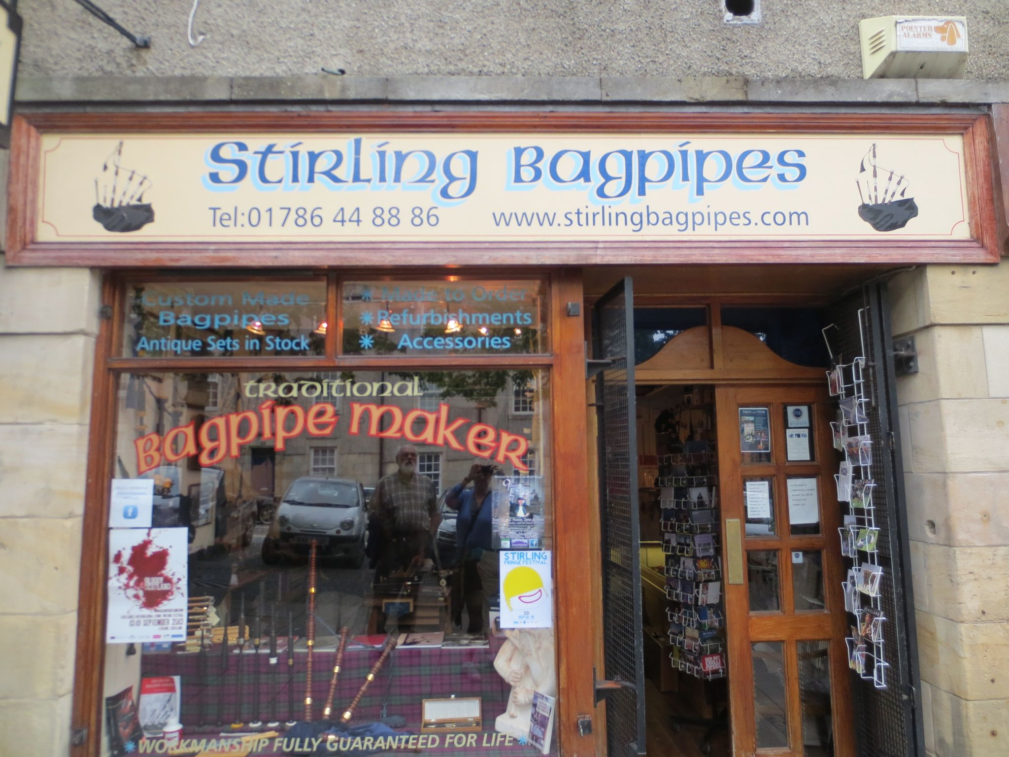 Bagpipe shop, Stirling Scotland