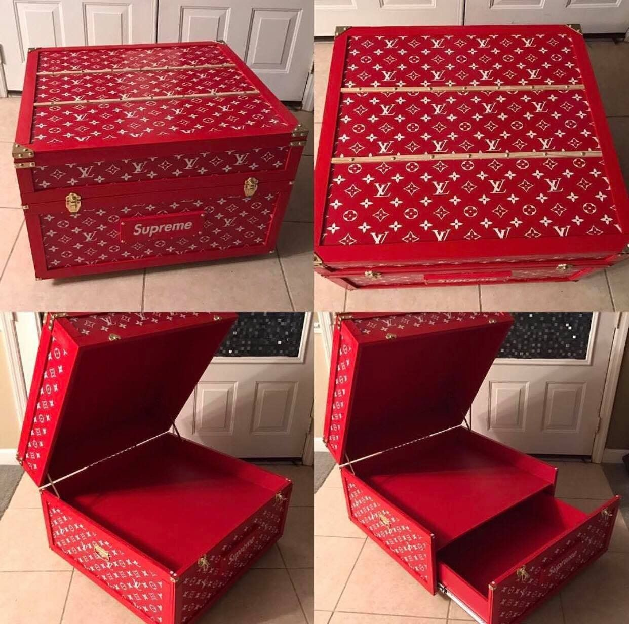 Meuble A Chaussure Xxl Louis Vuitton Supreme Shoe Storage Box 12 Pair En 2019