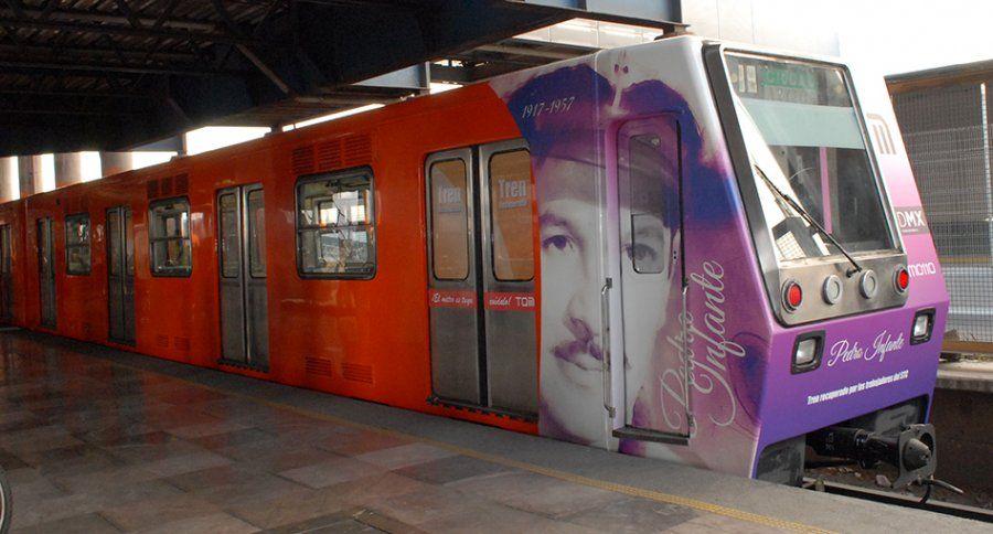 Homenaje a Pedro Infante con tren recuperado para la Línea B del STC