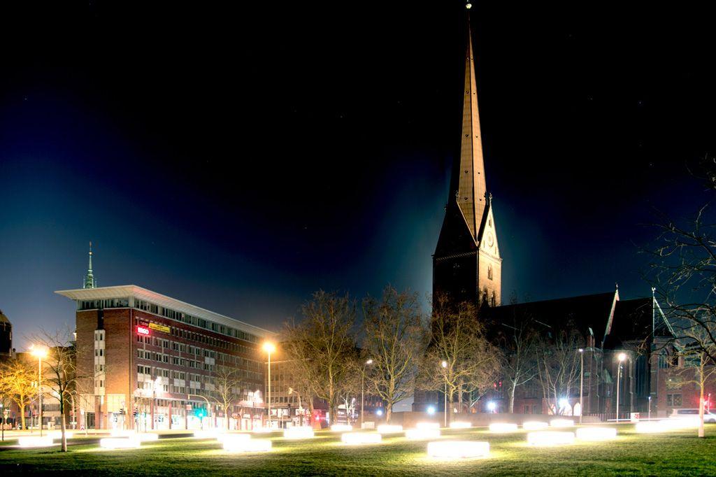 Hier stand der alte Dom in Hamburg